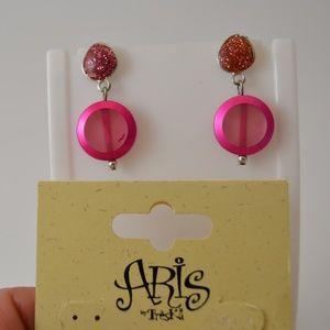 Aris by Treska Pink Sparkle Earrings